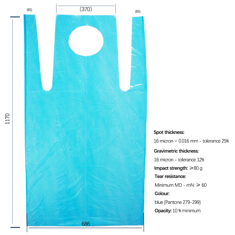 Disposable Polythene Blue Aprons