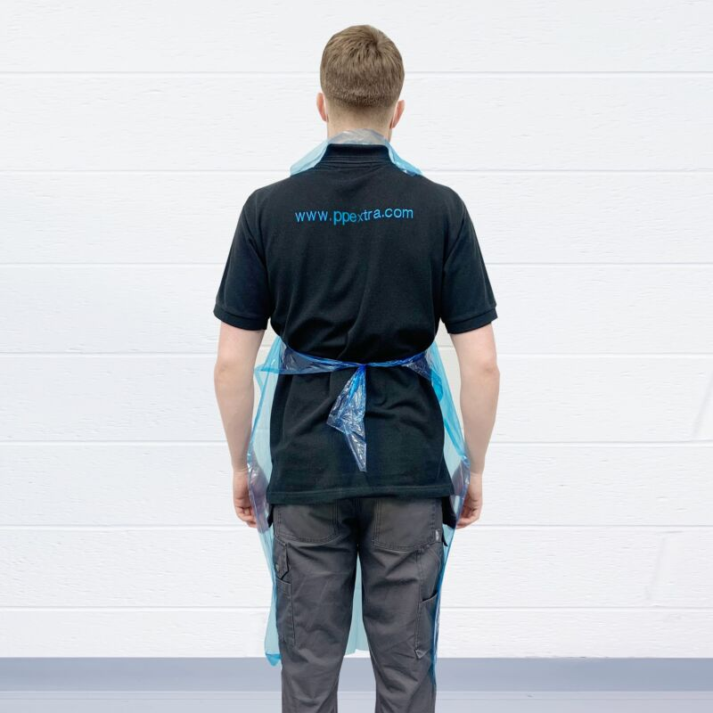 Disposable Polythene Blue Aprons