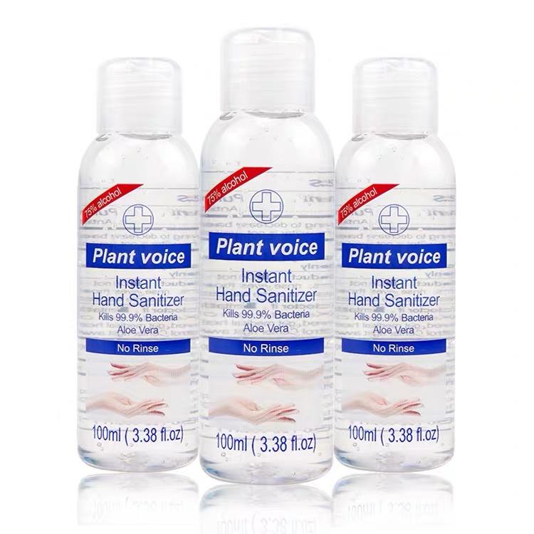 3 bottles hand sanitiser